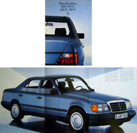 Mercedes Benz 200 230E 260E 300E W124 Saloons 1985-87 Original UK Sales Brochure