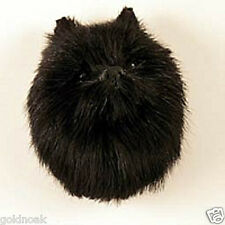 (1) BLACK POMERANIAN DOG MAGNET! Very realistic collectible fur Magnets.