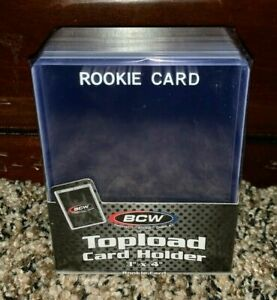 WHITE BCW 3X4 TOPLOAD CARD HOLDER RC ROOKIE IMPRINTED Pack of 25