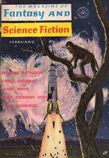 1963 Fantasy and Science Fiction February-Asimov Lost Generation; Zangwill Satan