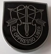 4350eeb99935 Boucle de ceinture numéroté forces spéciales US bérets vert DE OPPRESSO  LIBER