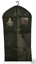 MASONIC SUIT BAG - ZIPPERED FRONT - IMPRINTED LOGO & ID HOLDER - NEW - GARMENT