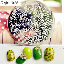 Nail Art Stamping Plate Image Stamp Template Leave & Flower Texture Pattern