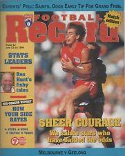 FOOTBALL RECORD 1998 Round 12 MELBOURNE v Geelong - Cats massacre Demons