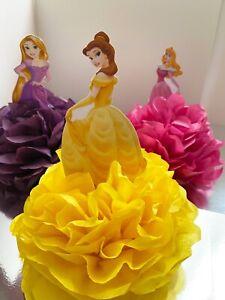 Disney Princesses pom poms  birthday party table decorations Cinderella Frozen