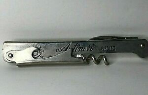 Vintage Antinori Florence Wine Waiters Corkscrew By inter Maniago Italy