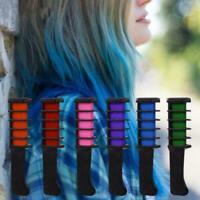6PCS Temporary Hair Chalk Hair Color Brush Comb Dye Cosplay Party Salon T5D8