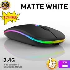 Ratón Mouse Óptico Inalámbrico 2.4GHz USB-LED recargable para PC Laptop Computadora