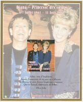 LADY DIANA PRINCESS OF WALES ELTON JOHN CANDLE IN THE WIND MNH STAMP SHEETLET