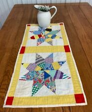 """New ListingCountry Pa Vintage """"String Stars"""" Quilt Table Runner 33 x 16"""