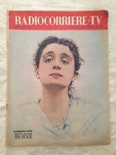 Radiocorriere TV n.43 ottobre 1958 - Eleonora Duse