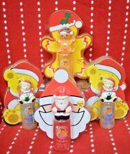 4X Gift Set GIFTS Santa GINGERBREAD MAN Bear Bubble Bath Sponge Kids Vanilla NEW