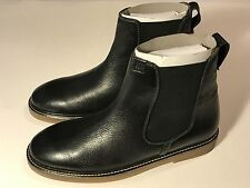 "Hush Puppies ""Gunner"" Black Leather Chelsea Ankle Boots Men Size 9 M, New"