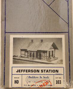 "HO HOn3 CRAFTSMAN BUILDERS IN SCALE "" JEFFERSON STATION KIT #103 NEW UNSTARTEDb"