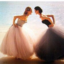 Vintage Style  TUTU Long Tulle Skirt Pettiskirt Bouffant High Waist Princess