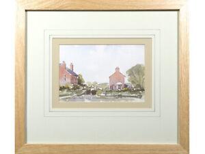 'The Lock' - Neil Sleath, original signed watercolour art. Landscape painting