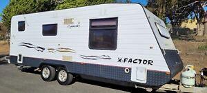 2009 Galaxy X Factor Caravan Shower Toilet 12v Solar 2022 Vic Rego *SEE VIDEO*
