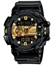 Casio G-Shock G'MIX Bluetooth Analogue/Digital Mens Black/Gold Watch GBA-400-1A9