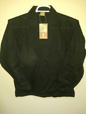 Manyavar Ethnic Wear long sleeve Shirt or Top. Size Large, Black, New with tags.