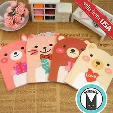 Lot Animal Cat Bear Ear Notebook Korean Stationery Notepad Kawaii Cute Memo Pad
