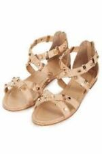 brand new TOPSHOP nude leather studded sandals UK 4