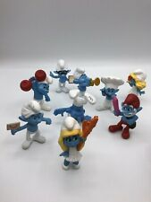 Smurfs Mcdonalds 2013 Happy Meal Toys Figurine Lot Of 9