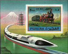 Fujeira Non Scott Listed Souvenir Sheet Mint Never Hinged Train Steam Engine