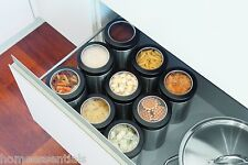 Brabantia Window Lid Storage Container With Magnetic Measuring Spoon Canister