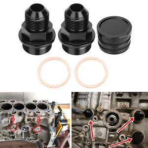 New Catch Can Rear Block Breather Plug & Fittings M28-10AN for Honda B16 B18C