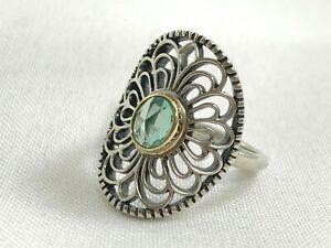 Pandora Vintage Allure Green Spinel Ring Size 52 (6.25 US) 190885SSG