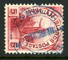 Hawaii Fancy Cancel Scott 81 Used Blue Kahului SON Iron Cross Cancel R6 1212 41