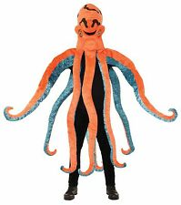 Soft Plush Octopus Costume Mascot Orange Fun Fur Adult 8 Tentacles Arms One Size