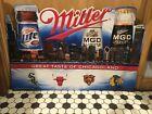 Miller Lite Metal Tin Sign Chicago Irish Beer Sign For Bar 36X24 Embossed