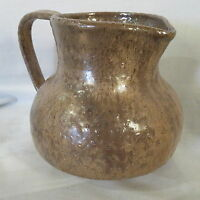 AUSTRALIAN POTTERY - MID CENTURY /Drip Glazed brown jug , nice shape & handle