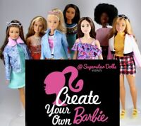CREATE YOUR OWN CUSTOM BARBIE DOLL WITH YOUR NAME ON THE BOX!!
