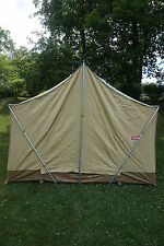 VINTAGE COLEMAN VAGABOND 10X8 TAN CANVAS CABIN TENT Model 8450-710 Great Shape