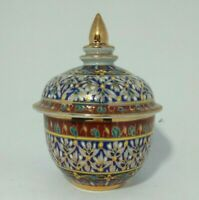 Service Bell Counter Hotel Thai Benjarong Porcelain Hand Painted Collection Gift