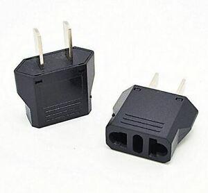 Europe (EU), Australia (AU) to United States (US) AC Power Plug Travel Adaptor