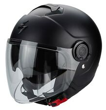 CASCO HELMET MOTO JET SCORPION EXO CITY NERO OPACO MATT BLACK DOPPIA VISIER  XXL