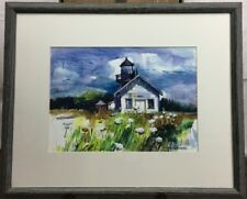 Vilma Maire Patterson Antoine water color plein air lighthouse Mendocino CA