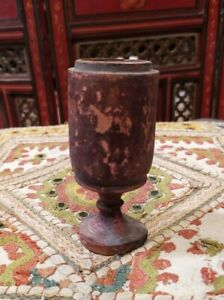 Antique Old Original Rare Wooden Hand Carved Glass Home Decorative Item
