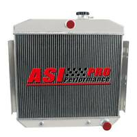 4 ROW Aluminum Radiator for 1955-1957 1956 Chevy Bel Air Nomad V8 US SHIP PRO