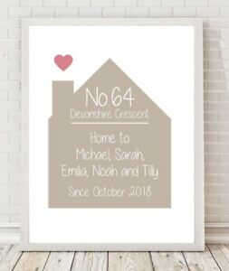 Personalised Home Family Gift Keepsake A4 Poster Print PO223