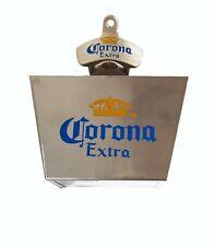 Corona Wall Mounted Bottle Opener & Cap Catcher Beer Bar Merchandise Man Cave