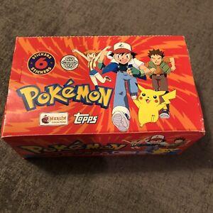 1999 Pokemon Topps Merlin Stickers Box 100 Sealed Unopened Packs 6 Stickers/pack