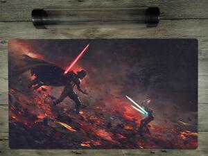 Star Wars Jedi Knight Custom Mat YuGiOh /MTG/VG Battlefield Playmat FreeBestTube