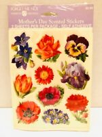 Vtg American Greetings Forget Me Not Mother's Day Floral Scented Stickers Sealed