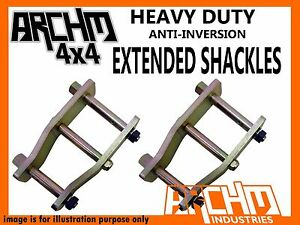 HOLDEN DROVER QB 1985--1987 ARCHM4X4 ANTI INVERSION EXTENDED SHACKLES