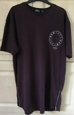 Great Mens T Shirt From Topman  Burgundy With White Logo, Size S