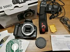 Canon EOS 500D Digital SLR Camera body boxed with documents